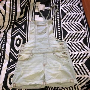 Wax Jean Denim Overall Romper